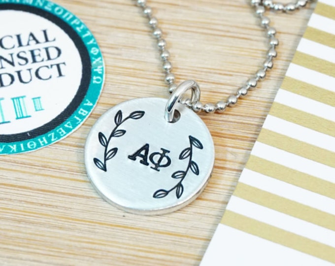 Alpha Phi Ivy Necklace - Sorority Gift - Big Little Reveal - ΑΦ Jewelry - Alpha Phi Necklace - Greek Life - Official Licensed Product