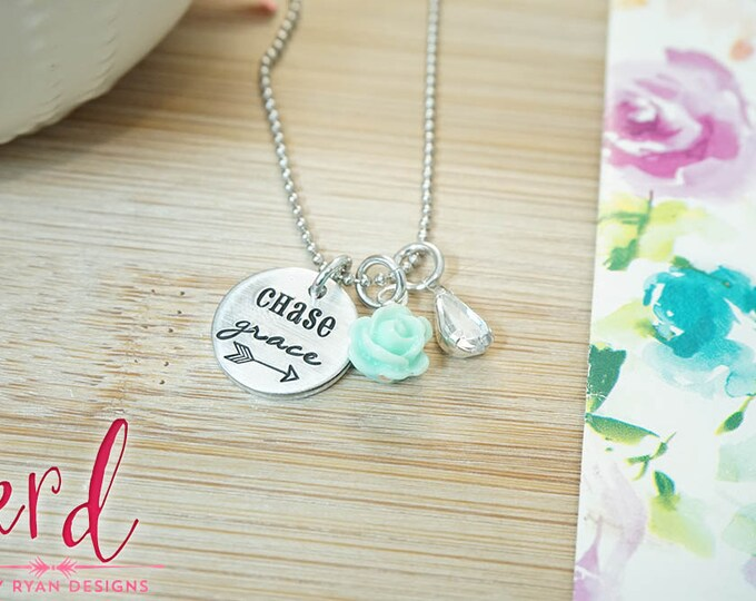 Chase Grace Necklace | Faith | Hand Stamped