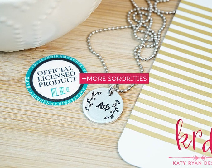 Sorority Necklace   Official Licensed Product   Greek Necklace   Multiple Sororities Available