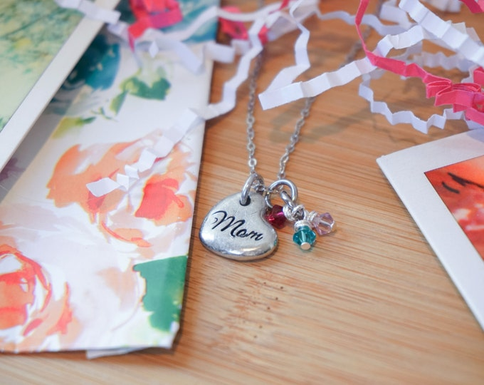 Mother Daughter Necklace | This girl stole my heart. She calls me Mommy | Hand Stamped