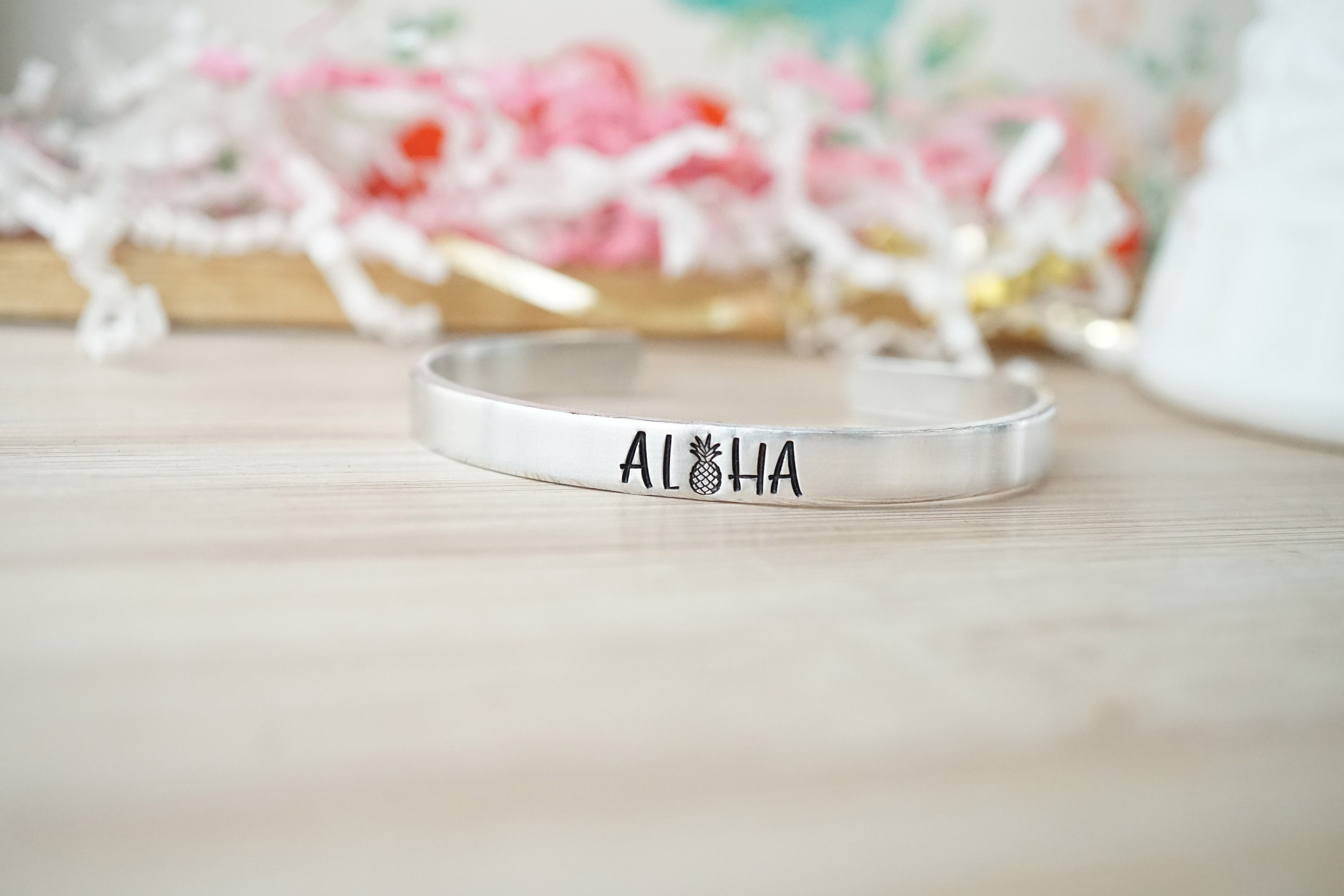 Aloha Cuff Bracelet - Hawaii Life - Hawaii Bangles - Hawaiian Jewelry - Gifts for Her - Gifts for Women - Island Jewelry - Island Girl