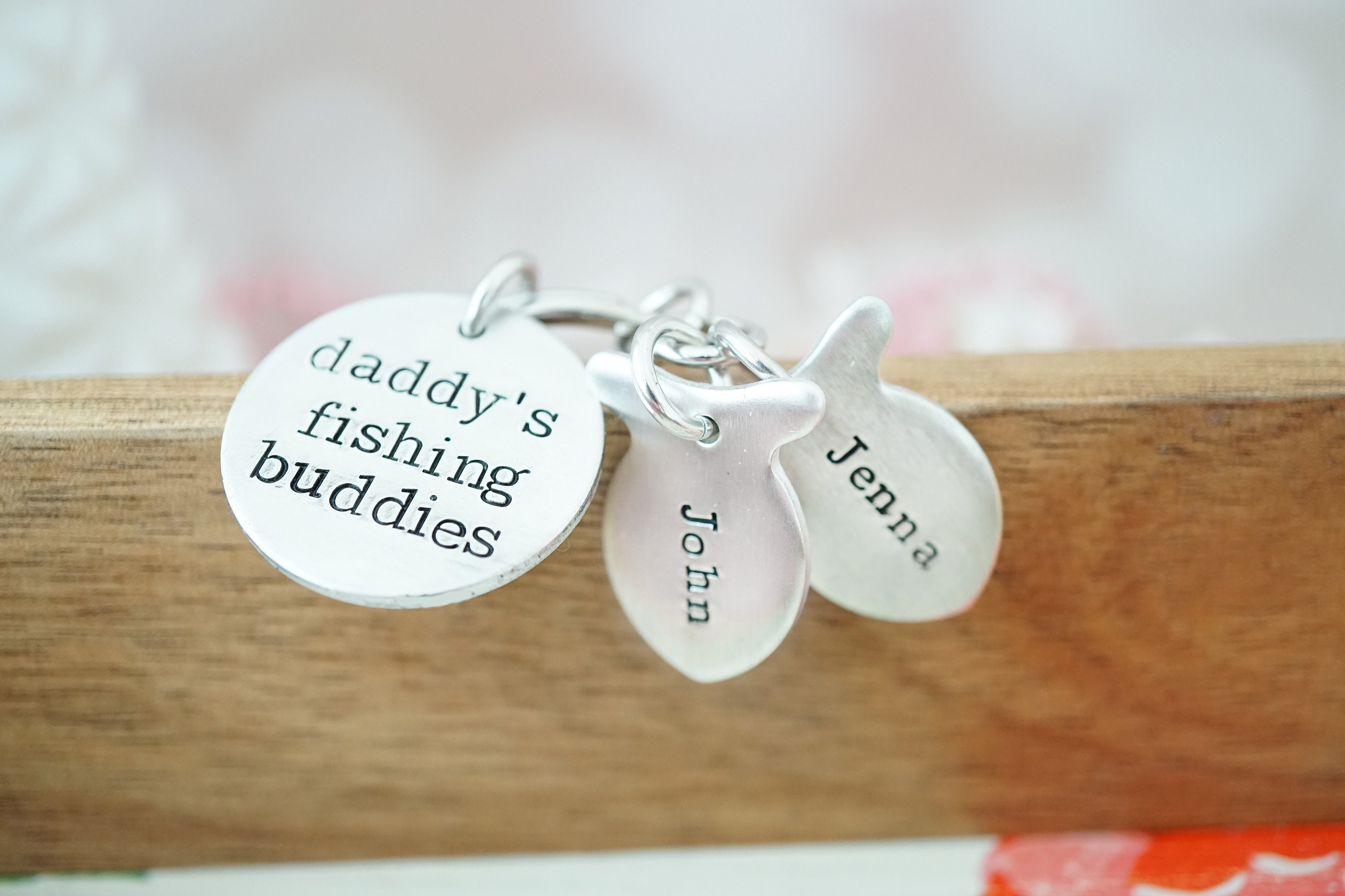 daddy s fishing buddies key chain father s day gift gifts for