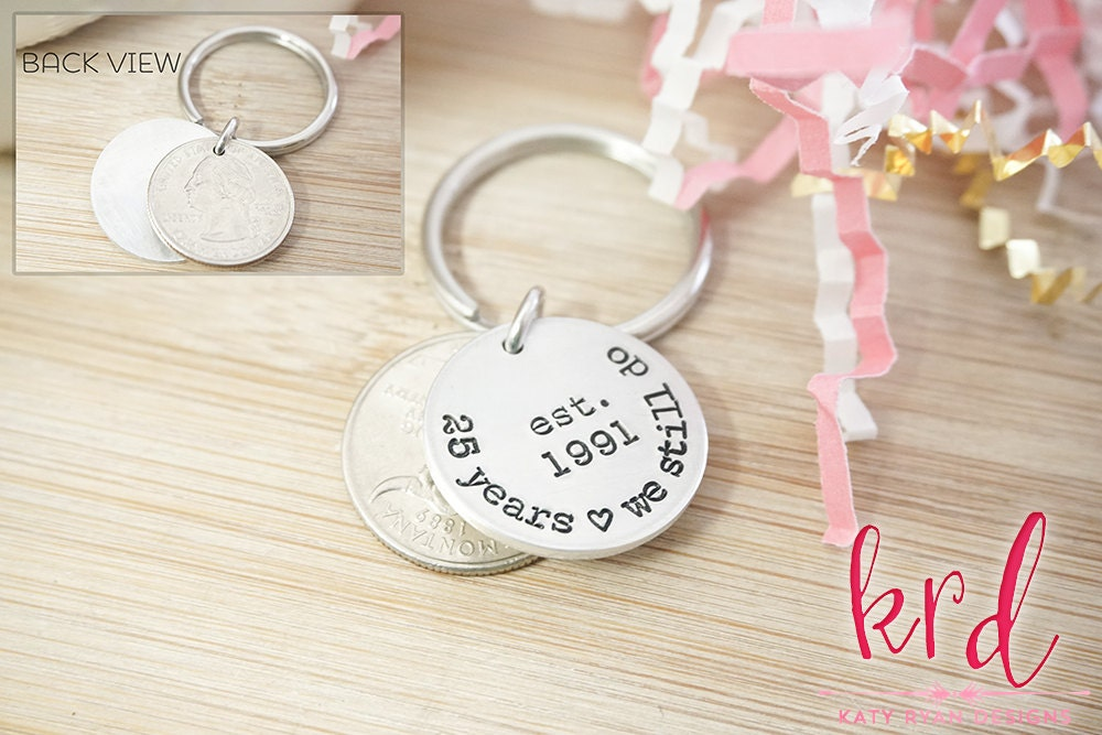 25th Anniversary Coin Key Chain
