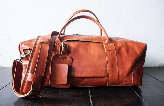 1b46535b41 leather travel bag men leather weekend bag leather duffel