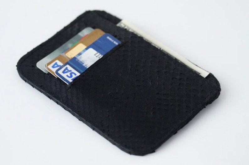 b88e61fbbe56 Small wallet / card holder Black Python Snake skin | Etsy