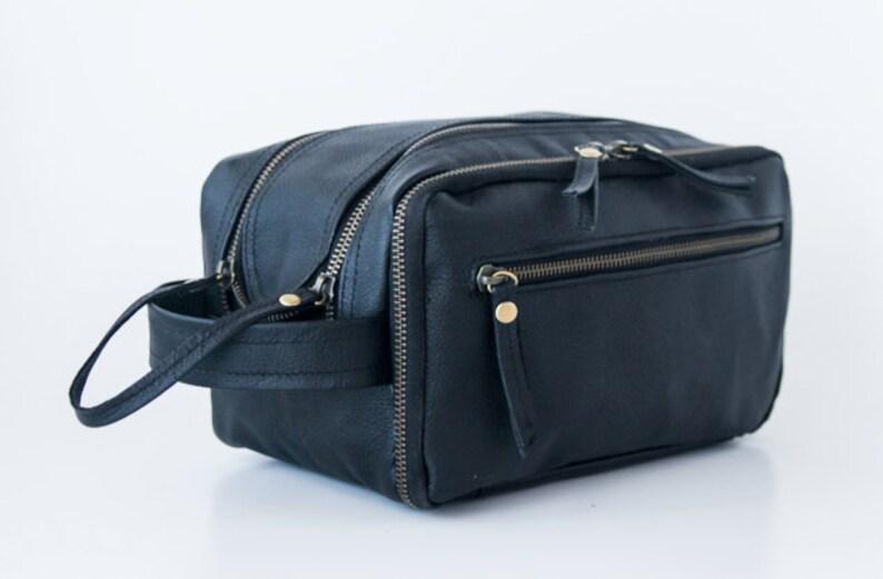 Dopp Kit bag Mens Shaving Kit Travel Kit Leather Travel  7193641c7c9fe