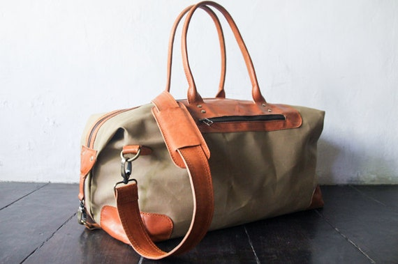 weekend bag duffle bag leather holdall overnight travel   Etsy 7abd52e1f6