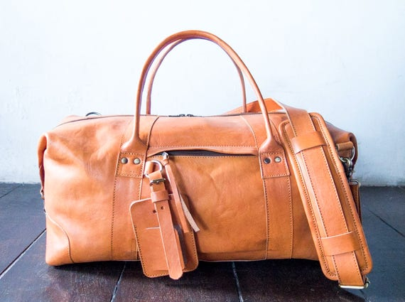 0ad78fc2ad leather weekend bag leather travel bag leather overnight