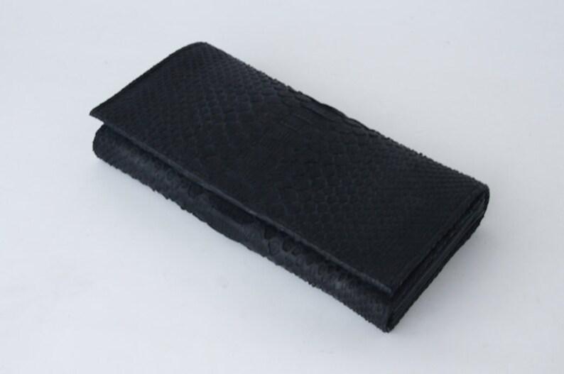 f8e2ce5d05a58 Torebka damska portfel-Python Skin-Black