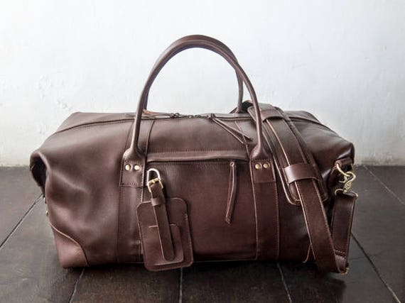 leather weekend and travel bag for men and and women   Etsy a979b3cc53