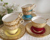 Aynsley Footed Demitasse Cups and Saucers - Aynsley, John 1930s