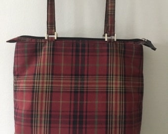 6d6883cb3042 Vintage Ralph Lauren Handbag Purse - Red Plaid As New
