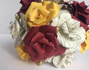 Gryffindor Inspired Paper Bouquet