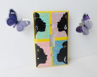 Four Sisters Four Best Friends Afrocentric Light Switch Covers