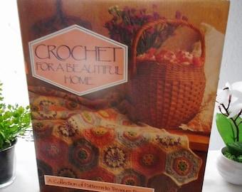 Crochet for a Beautiful Home, Vintage Crochet Books, DIY Crochet Projects,  Fiber Arts