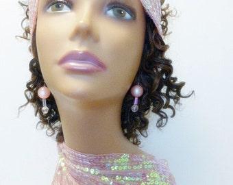 Pink Ball Dangle Earrings
