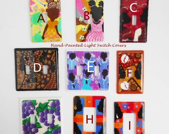 Hand Painted Light Switch Covers by Gail Penrice Rogers, Choose the Design You Want!