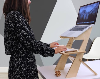 Laptop stand, wood laptop stand, mac book stand, wood laptop holder, wood mac book stand, mac book riser, wood laptop riser.