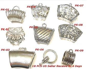 Scarf bails etsy wholesale 9 style 18pc jewelry findings bails tubes free shipping slides hange on scarf pendants aloadofball Choice Image