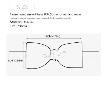 3x Bow Ties For Unisex Adult Clothing Men's Swear Diamond