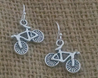 Bike  Earrings ,  Bicycle Earrings , Gifts for Cyclists ,  Spin Class Gift , Fitness Jewelry , Biker Jewelry , Inspirational ,  Trainer Gift
