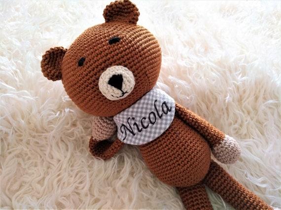 Kuscheltier gehäkelt mit Namen Kinderzimmerdekoration | Etsy