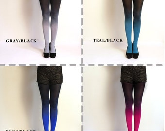 Ombre Tights gredient tights // PLUS SIZE. Hand dyed.