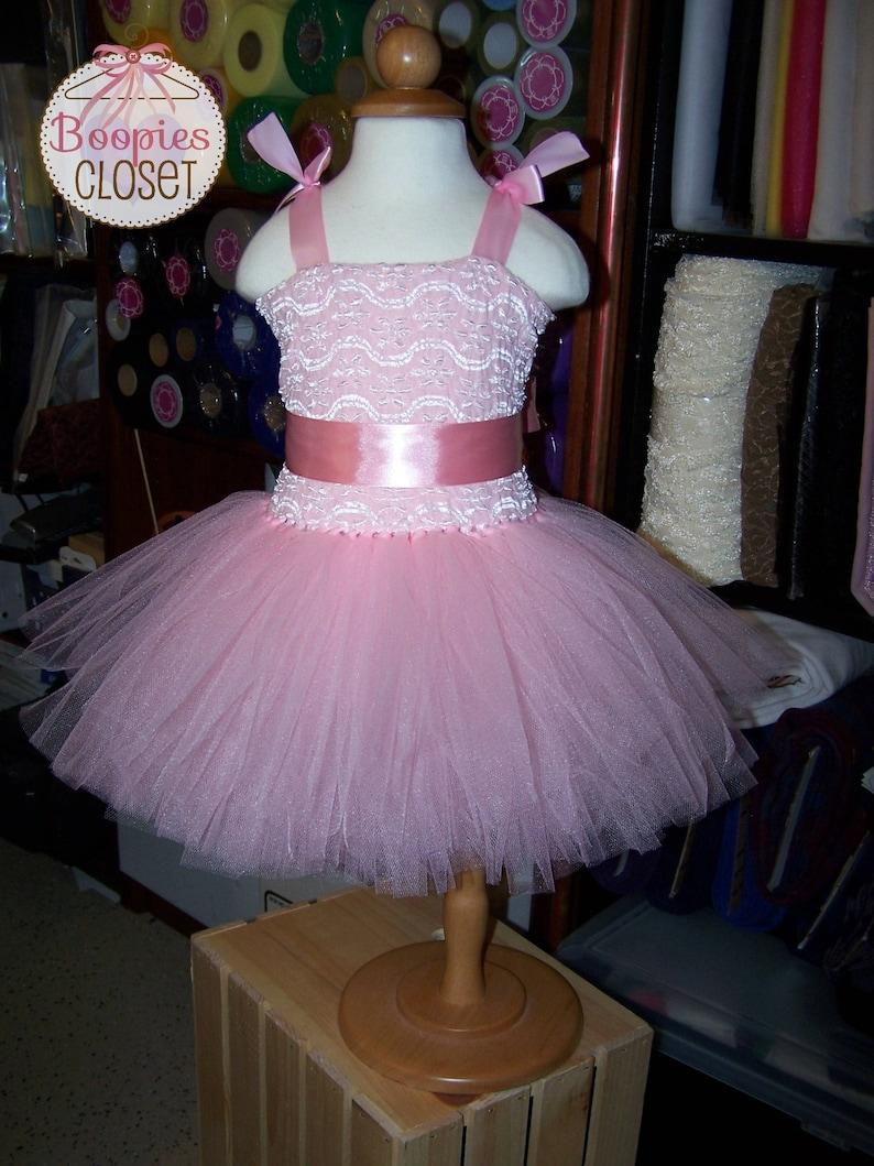 Christening Tutu Dresses Girls Special Occasion Dress Baptism Tutu Dresses Infant Dress Wedding Flower Girl Dress Birthday Tutu Dress