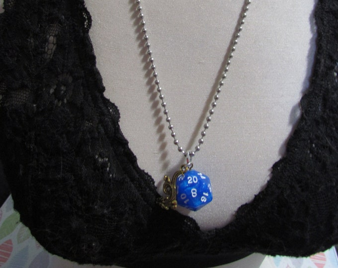 d20 NECKLACE Class Talisman Dungeons and Dragons Dice (Warlock/Sorcerer)