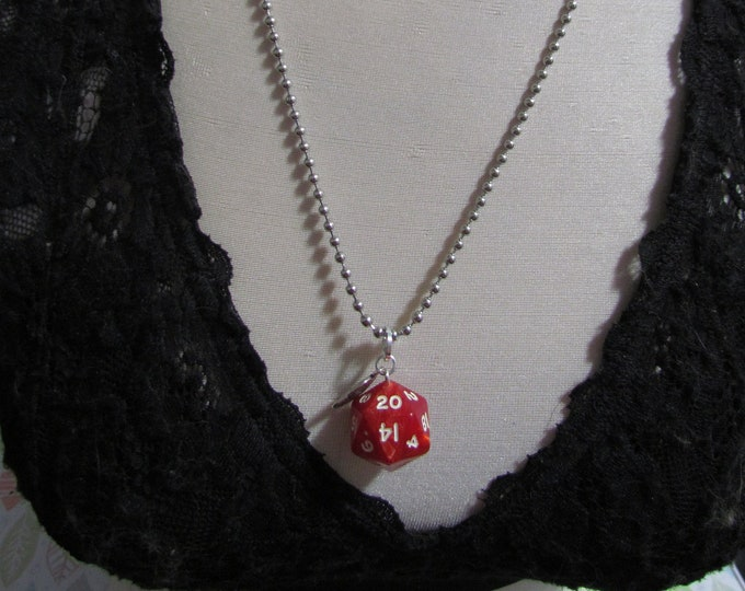 d20 NECKLACE Class Talisman Dungeons and Dragons Dice (Bard/Sorcerer)