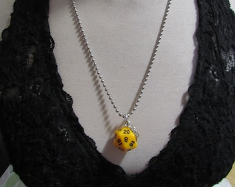 d20 NECKLACE Class Talisman Dungeons and Dragons Dice (Monk/Druid)