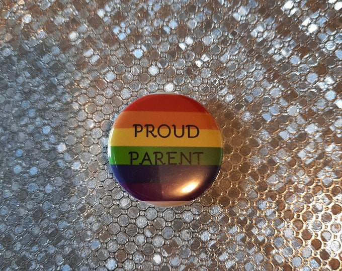 """PROUD PARENT Button - 1.25"""" pinback button"""