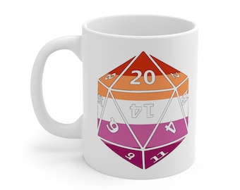 LESBIAN d20 Mug