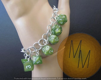 MINI DICE BRACELET Light Green Sparkle
