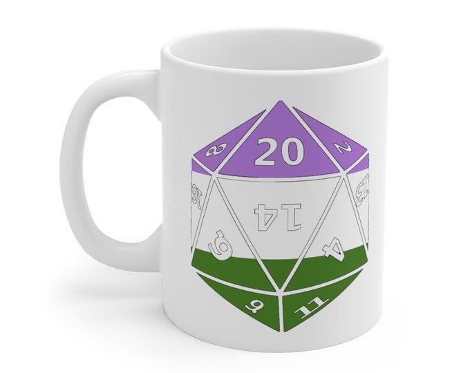 GENDERQUEER d20 Mug