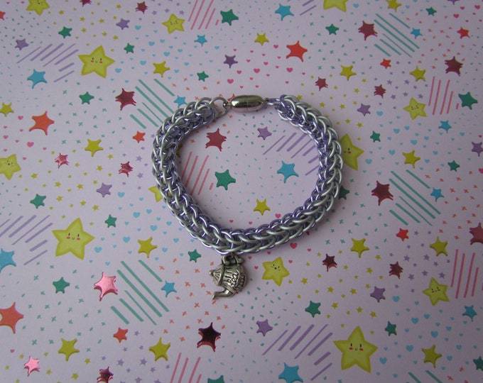 CLEARANCE - 6in1 Persian Bracelet - Lavender/White