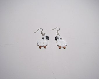 Mini Perler Sheep Earrings