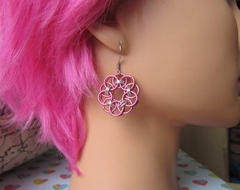 Helm's Circle Earrings - Dark Rose