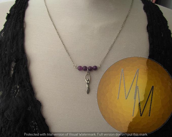 Divine Feminine Goddess Necklace (Amethyst)