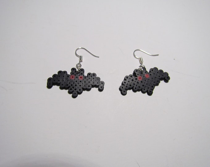 Mini Perler Mothman Earrings