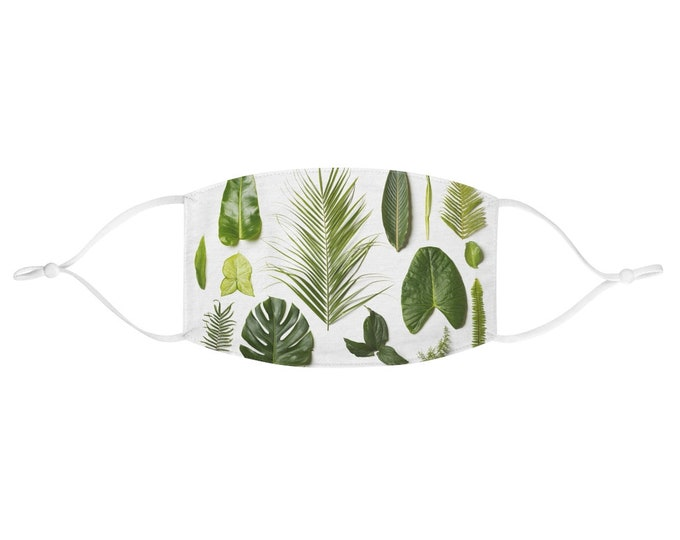 Fabric Face Mask - Tropical Leaves
