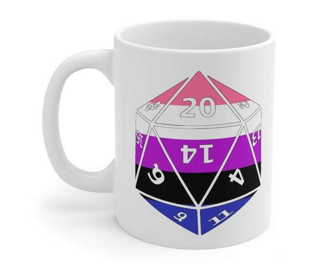 GENDERFLUID d20 Mug