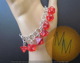 MINI DICE BRACLET Translucent Red