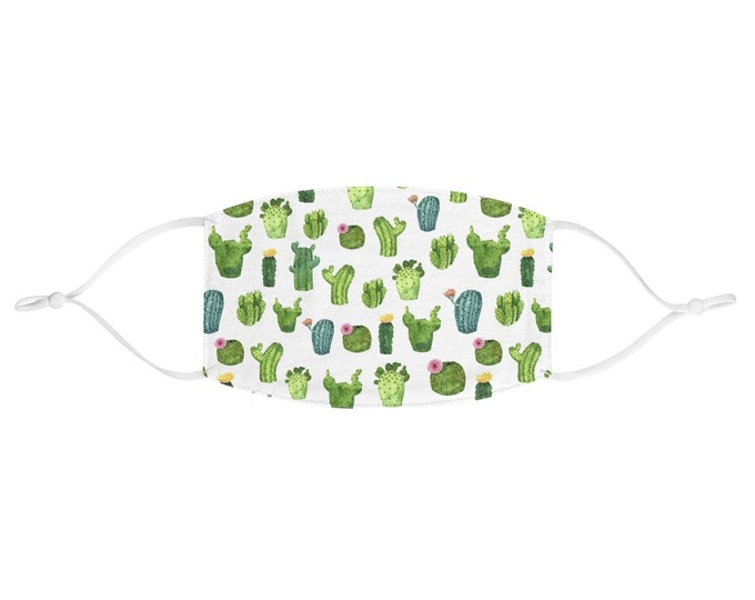 Fabric Face Mask - Cacti