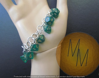 MINI DICE BRACELET Translucent Dark Green