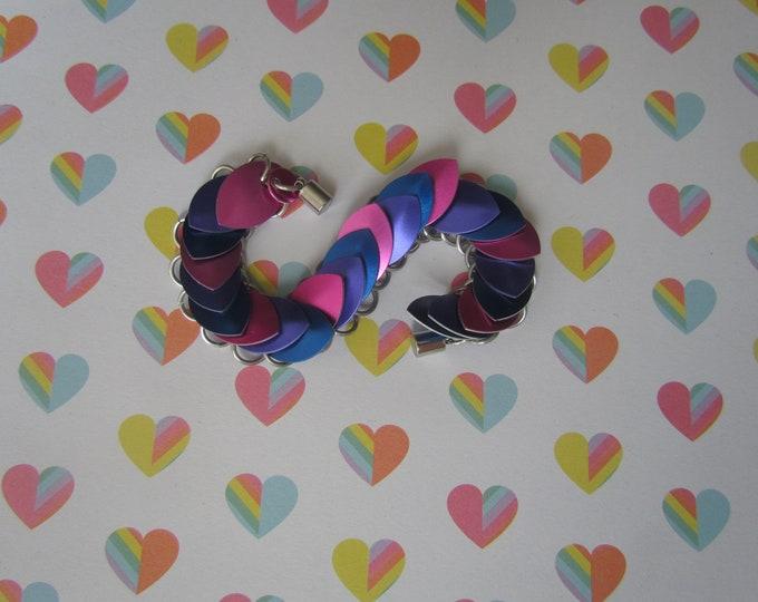 BISEXUAL FLAG Scalemail Bracelet Bi Pride Colours