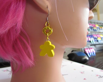 Meeple Rosette Earrings YELLOW