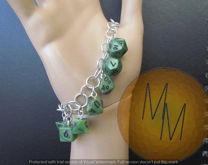 MINI DICE BRACELET Green Pearl/Shimmer