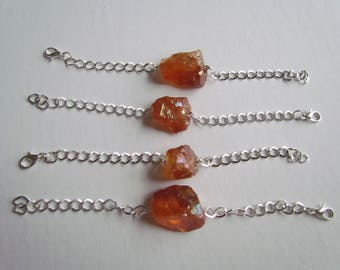 CLEARANCE Tangerine Aura Quartz Bracelets