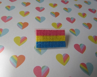 Cross Stitched Pride Flag Pins - PANSEXUAL